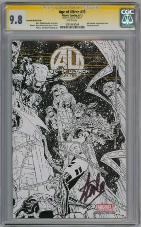 Age Of Ultron #10 Joe Quesada Angela Sketch Variant 1:100 CGC 9.8 Signature Series Signed Stan Lee Marvel comic book
